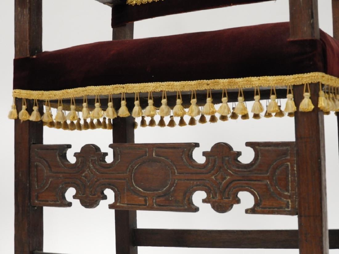 Near PR. Italian Renaissance Walnut Armchairs - 5