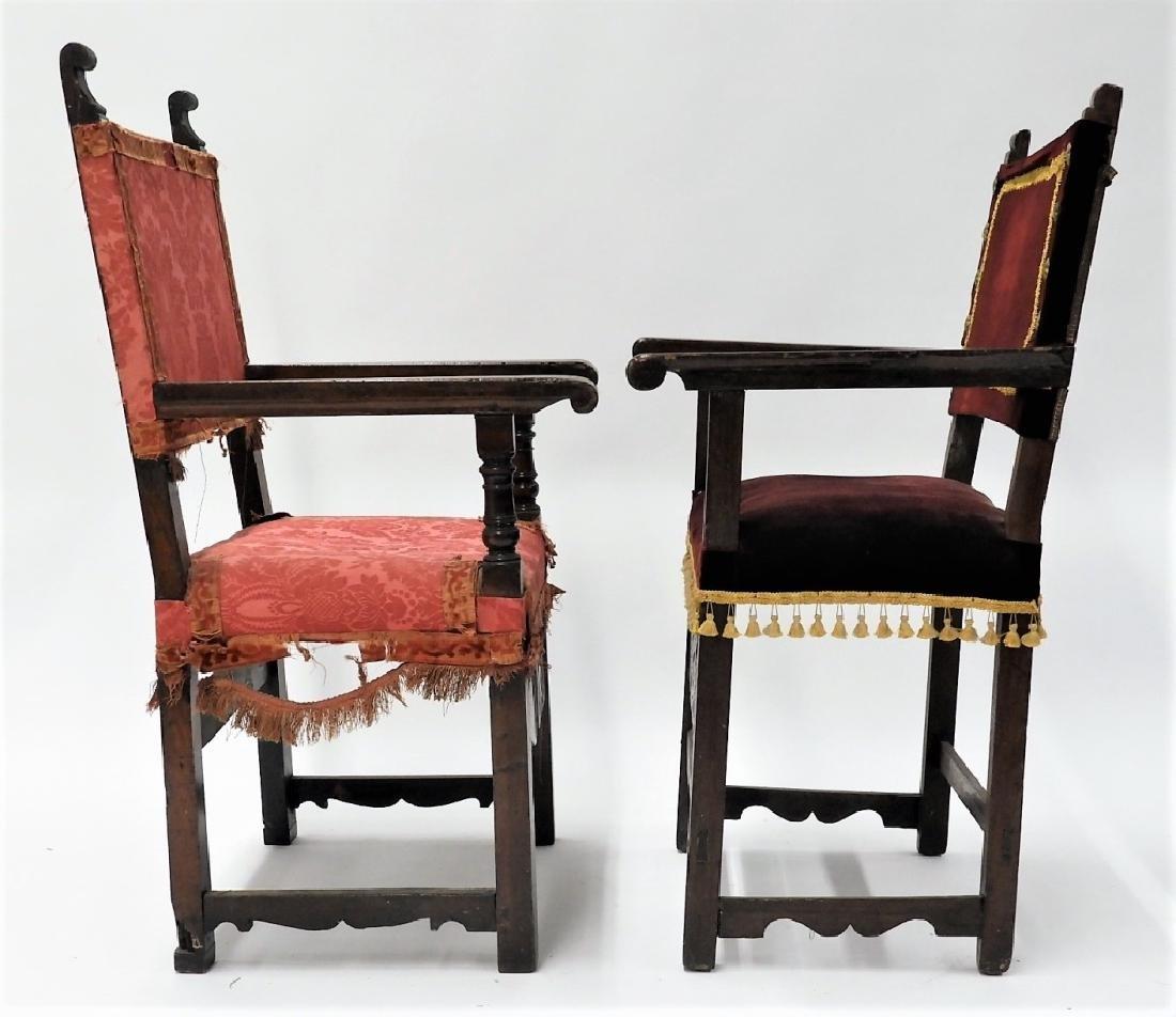Near PR. Italian Renaissance Walnut Armchairs - 6