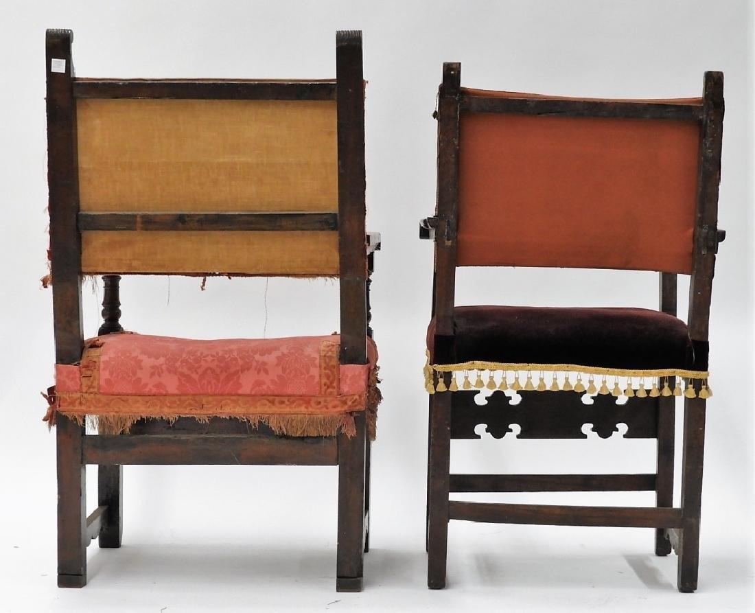 Near PR. Italian Renaissance Walnut Armchairs - 7