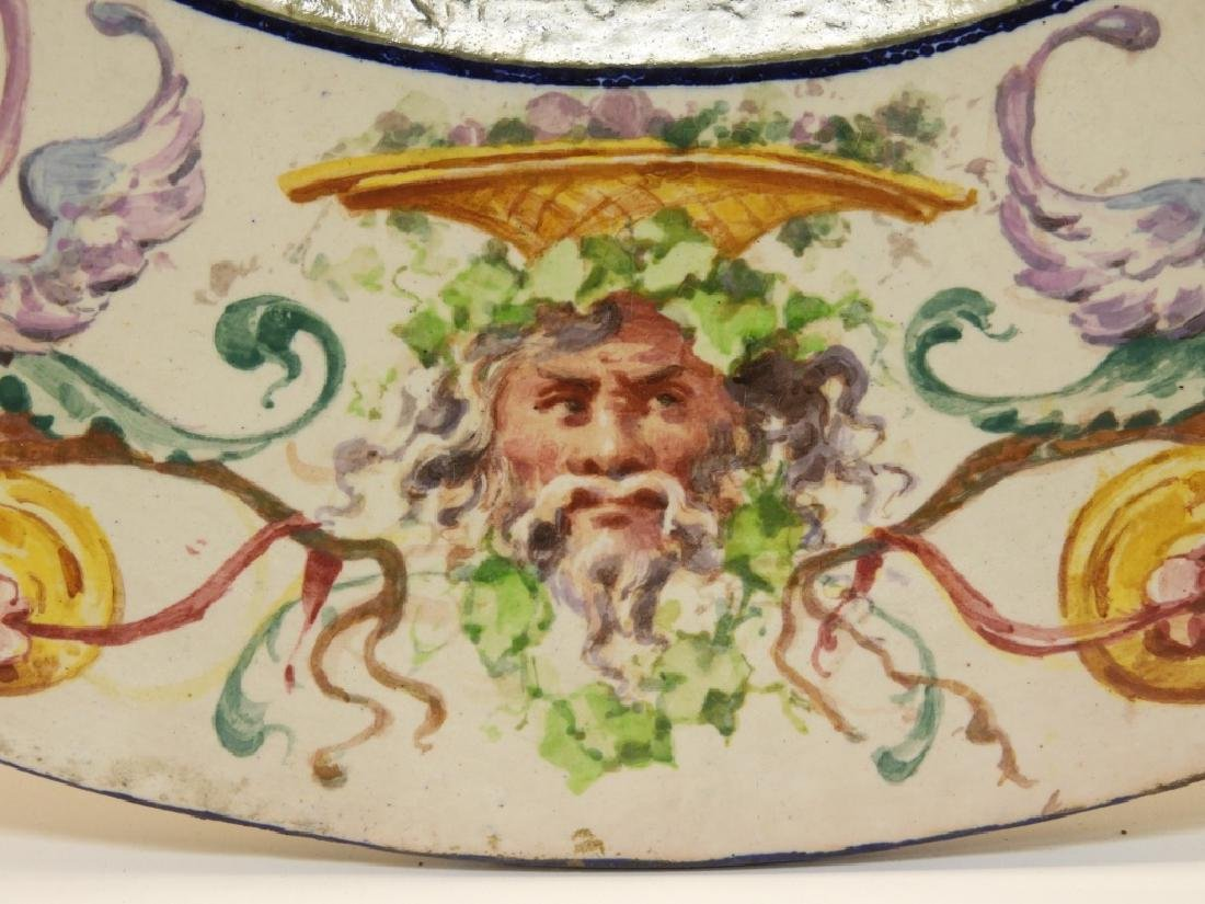 LG Italian Tin Glazed Faience Pottery Charger - 5
