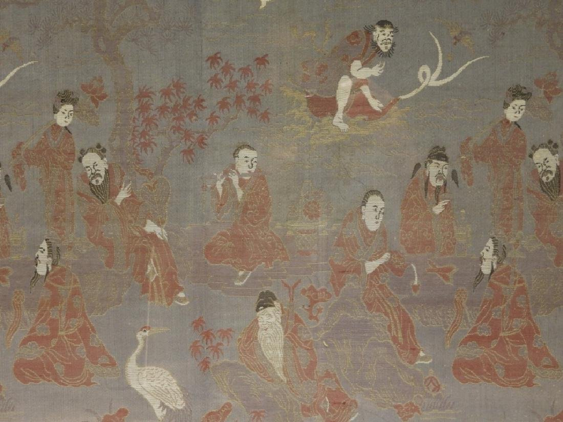 Chinese Silk Textile Panel of Immortals - 2