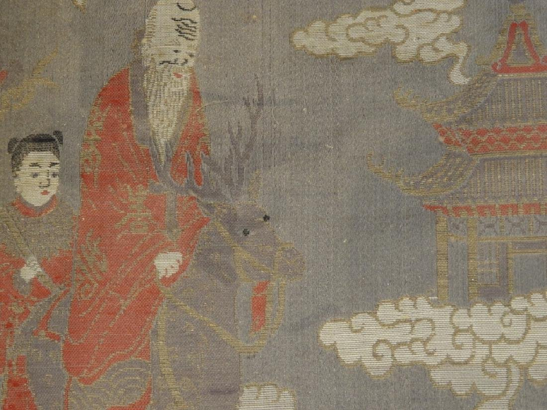 Chinese Silk Textile Panel of Immortals - 3