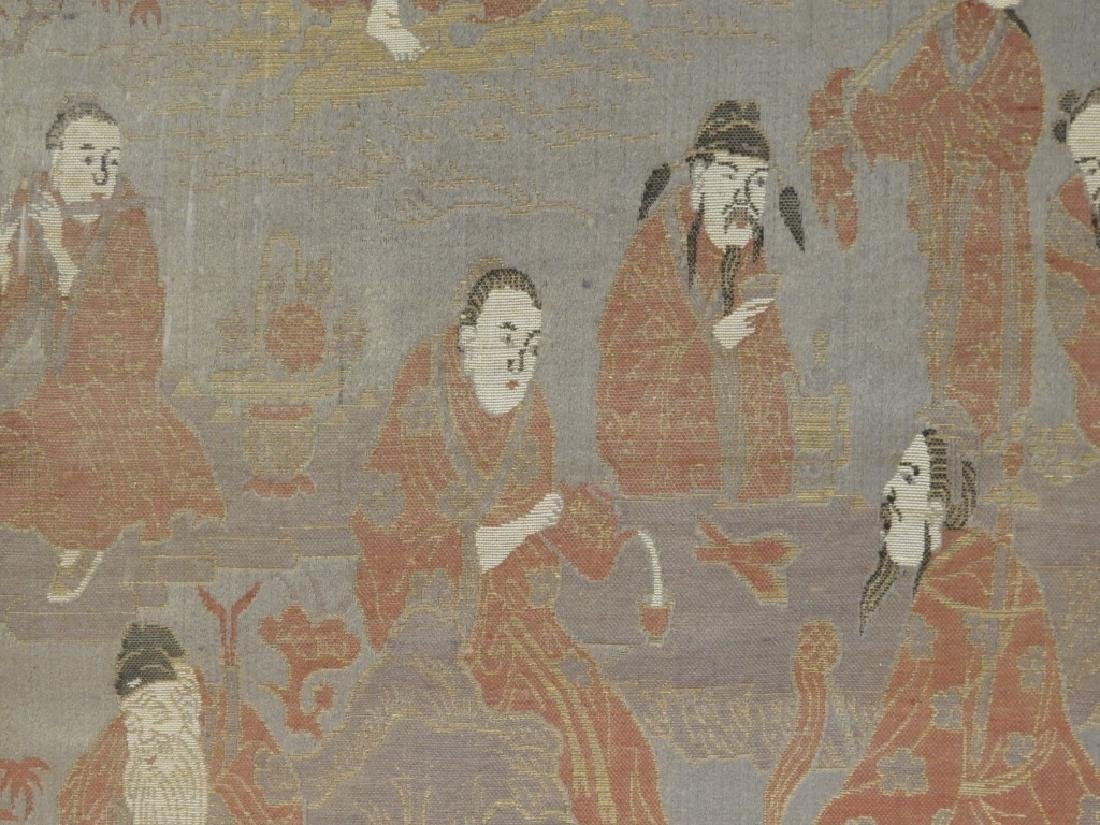 Chinese Silk Textile Panel of Immortals - 4
