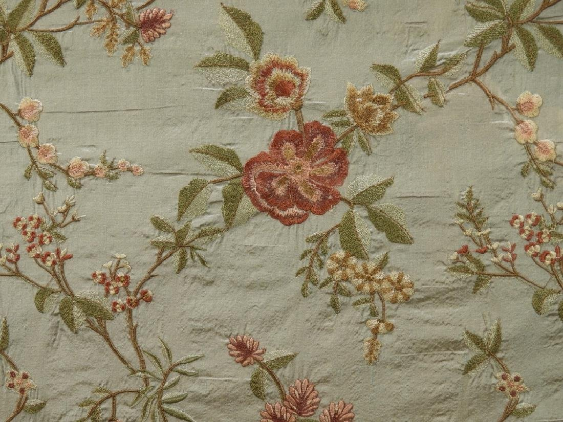 C.1900 Chinese Silk Cherry Blossom Embroidery - 3