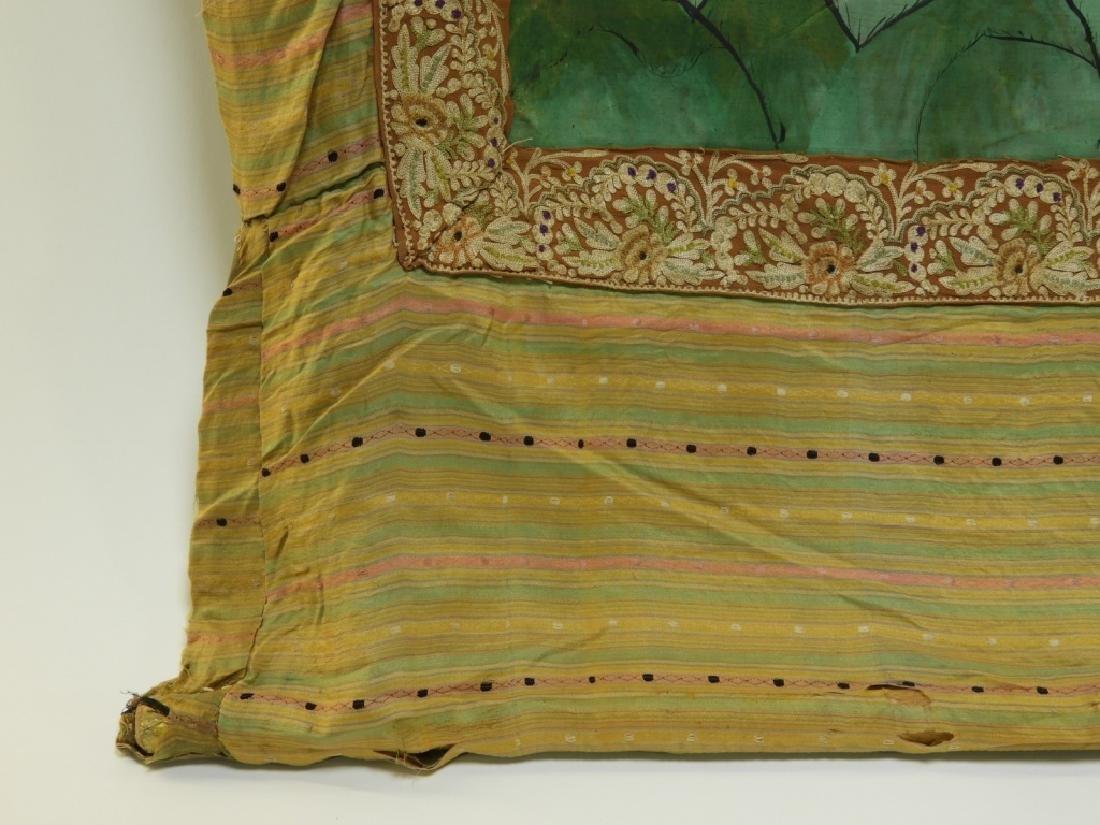 19C. Tibetan Deity Silk Thangka Tapestry Painting - 6