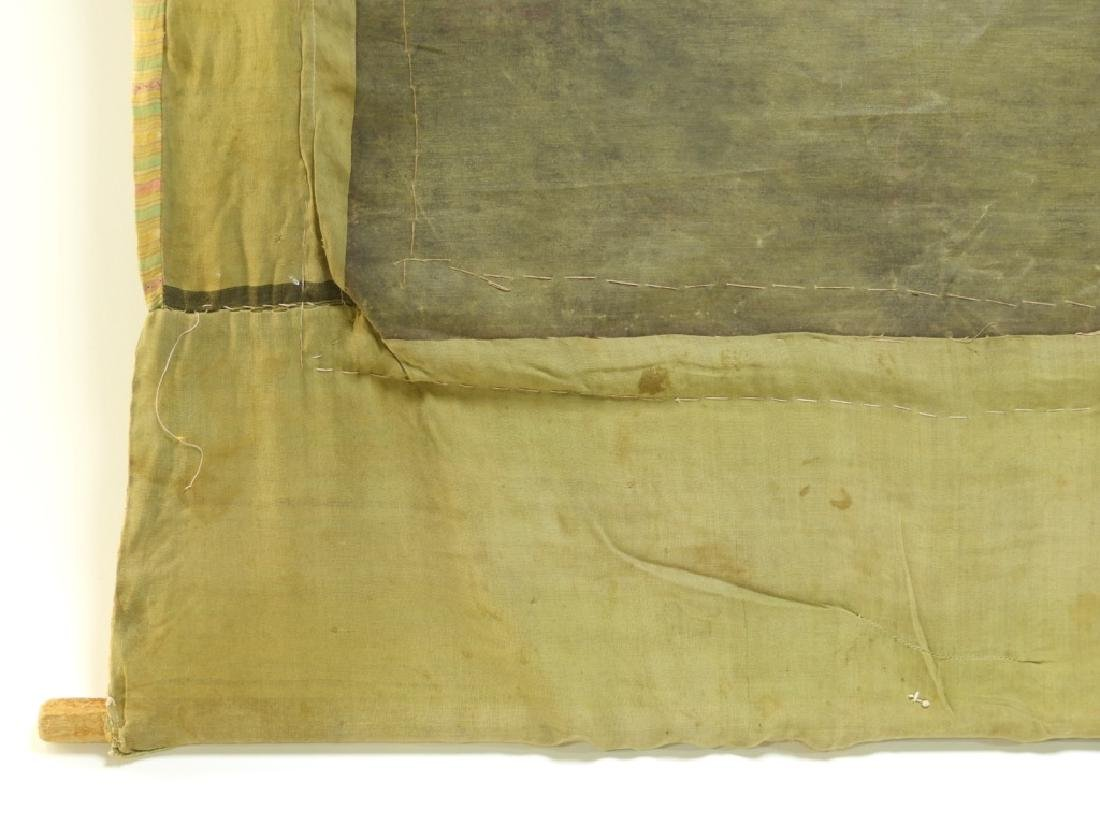 19C. Tibetan Deity Silk Thangka Tapestry Painting - 9