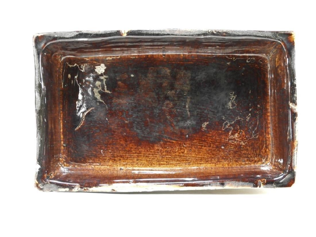 19C. English Rockingham Flint Enamel Pottery Lion - 9