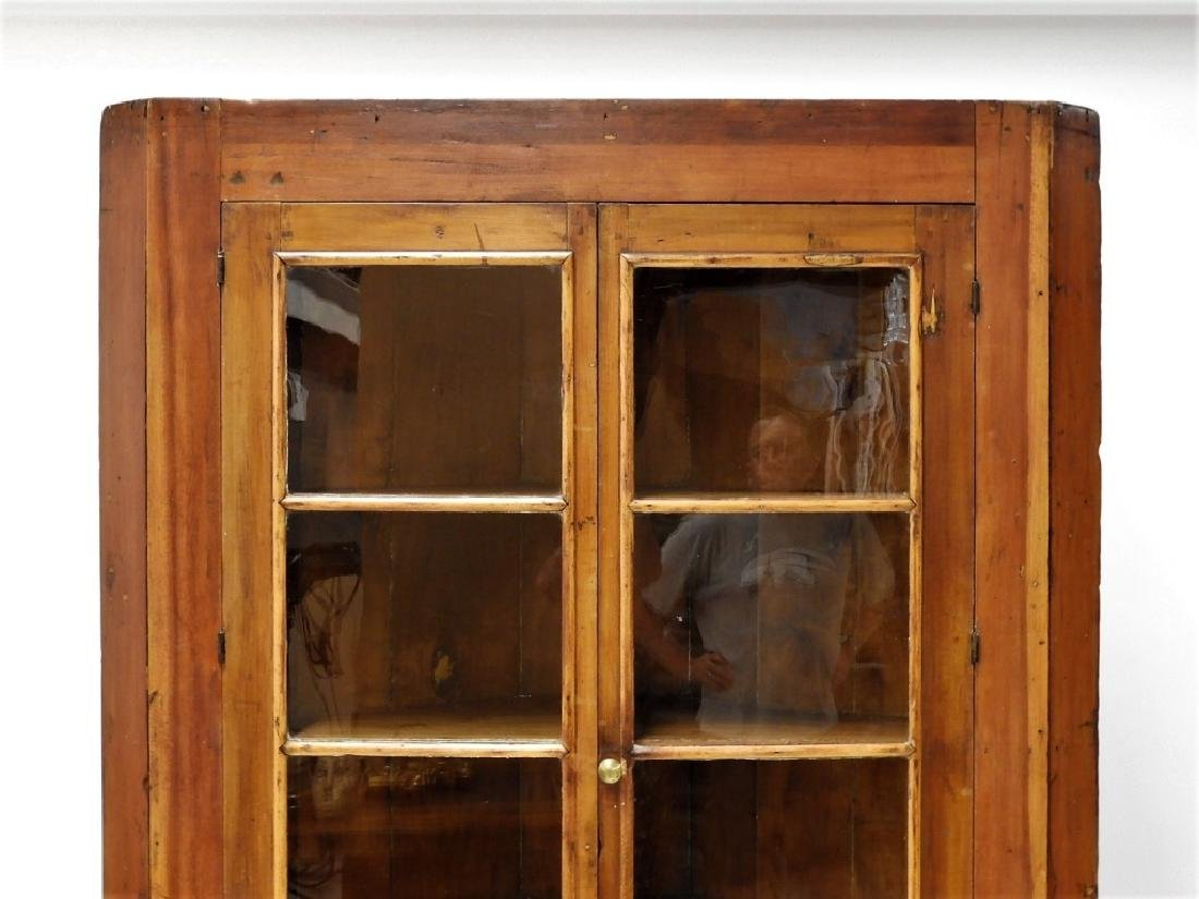 New England Pine Mullion Glass Door Corner Cabinet - 2