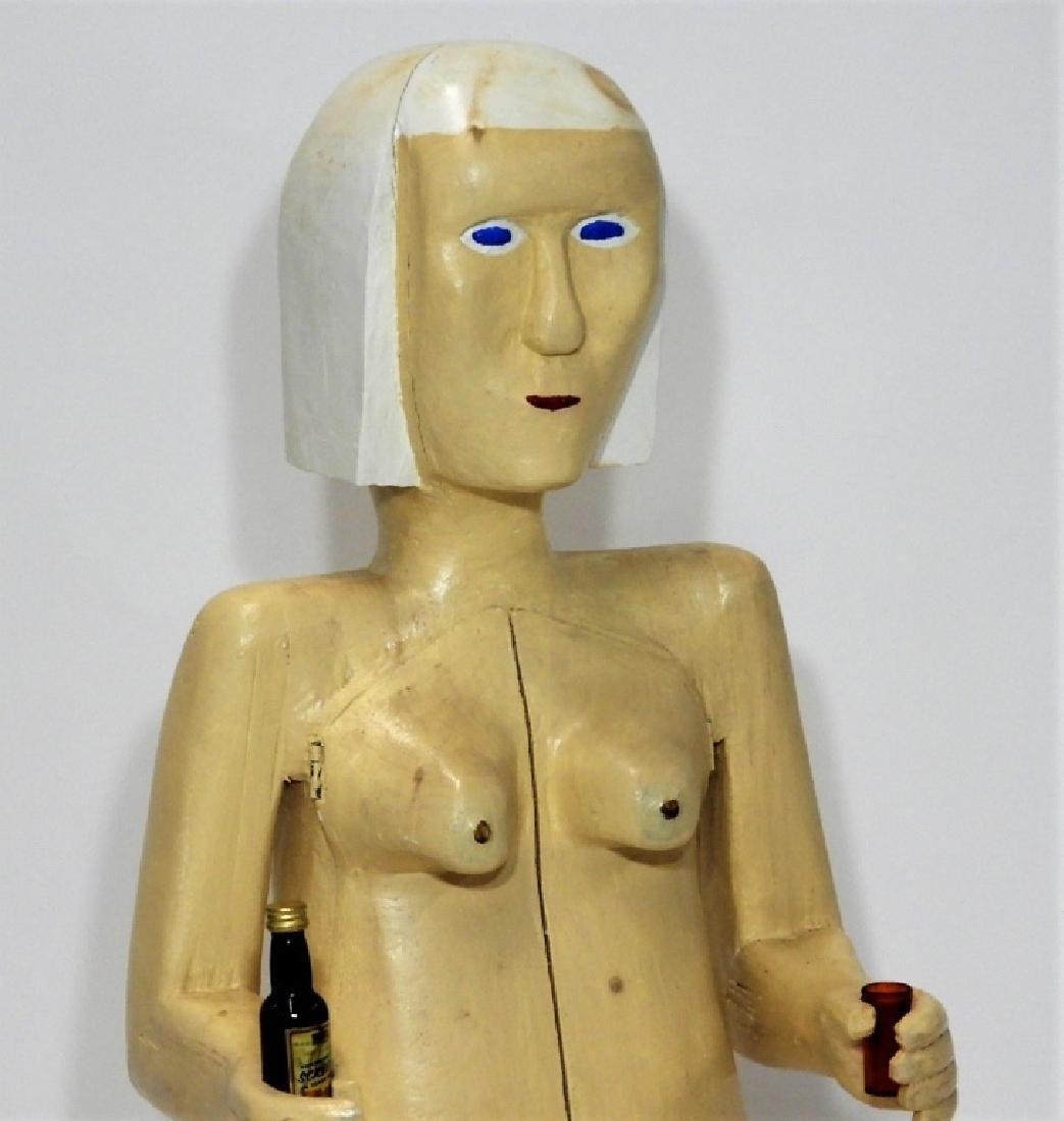 Bubby Moores Folk Art Nude Female Bar Sculpture - 2