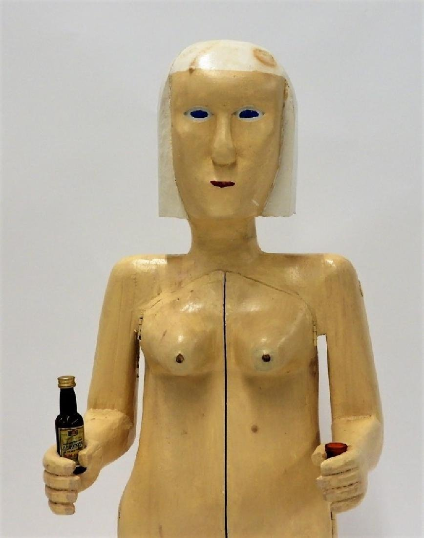 Bubby Moores Folk Art Nude Female Bar Sculpture - 3