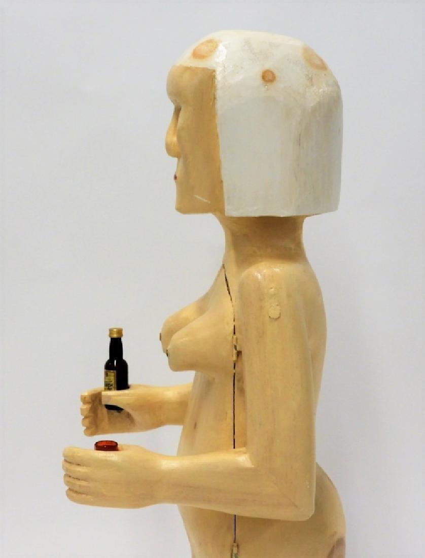 Bubby Moores Folk Art Nude Female Bar Sculpture - 4