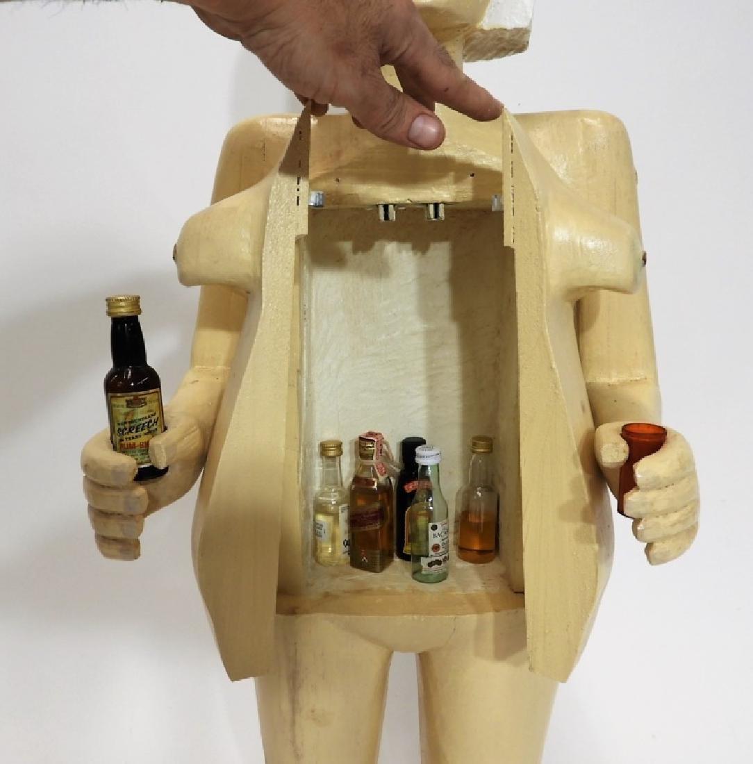 Bubby Moores Folk Art Nude Female Bar Sculpture - 6