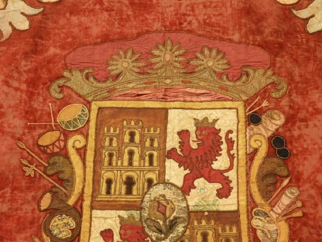 17C. Spanish Castile Leon Coat of Arms Tapestry - 3