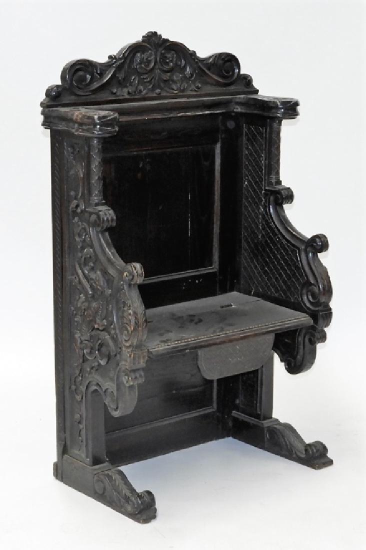 18C. Continental Renaissance Revival Hall Chair