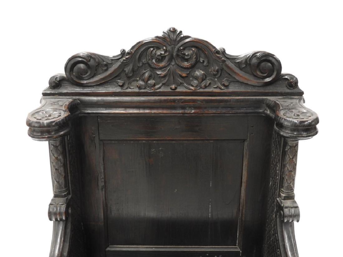 18C. Continental Renaissance Revival Hall Chair - 3