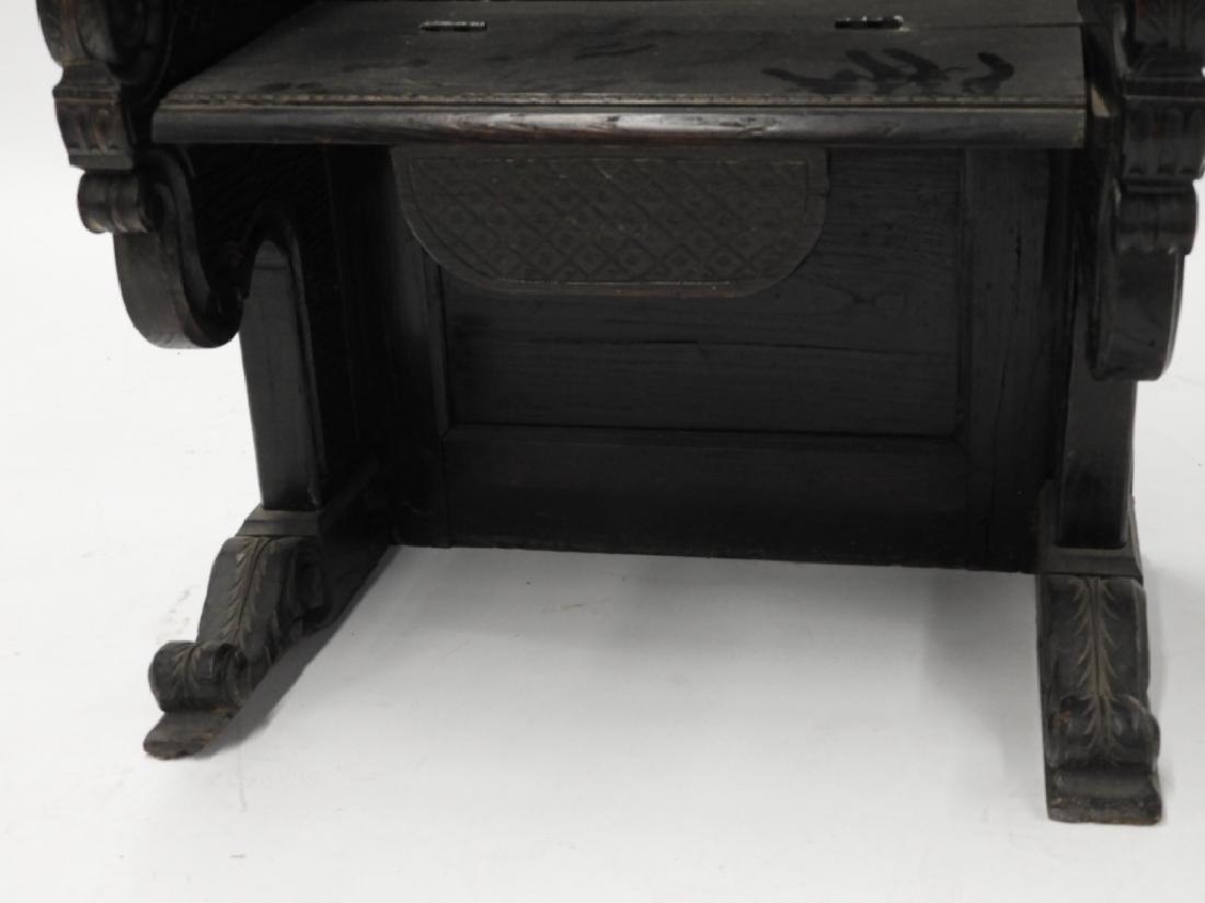 18C. Continental Renaissance Revival Hall Chair - 5