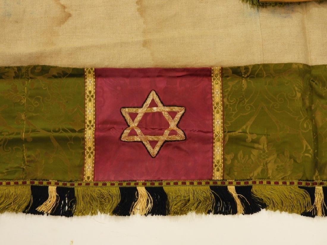 9PC. Catholic Green Silk Brocade Vestment Set - 5