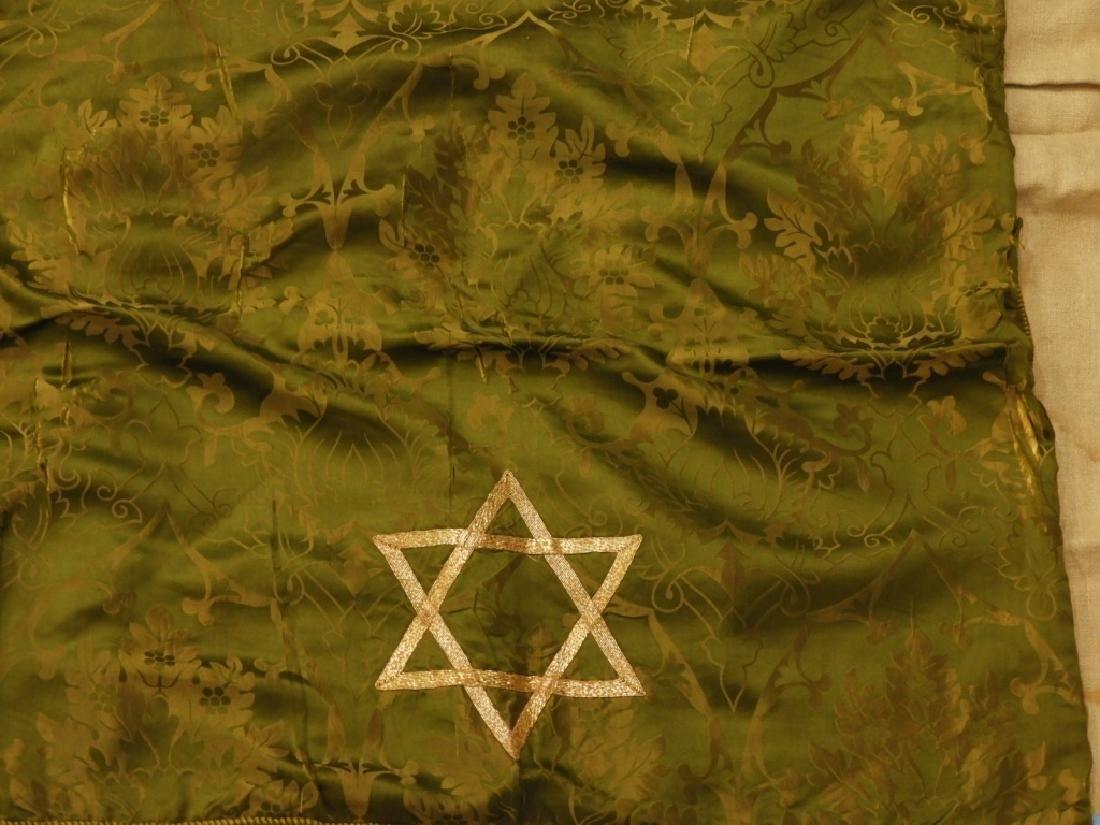 9PC. Catholic Green Silk Brocade Vestment Set - 6