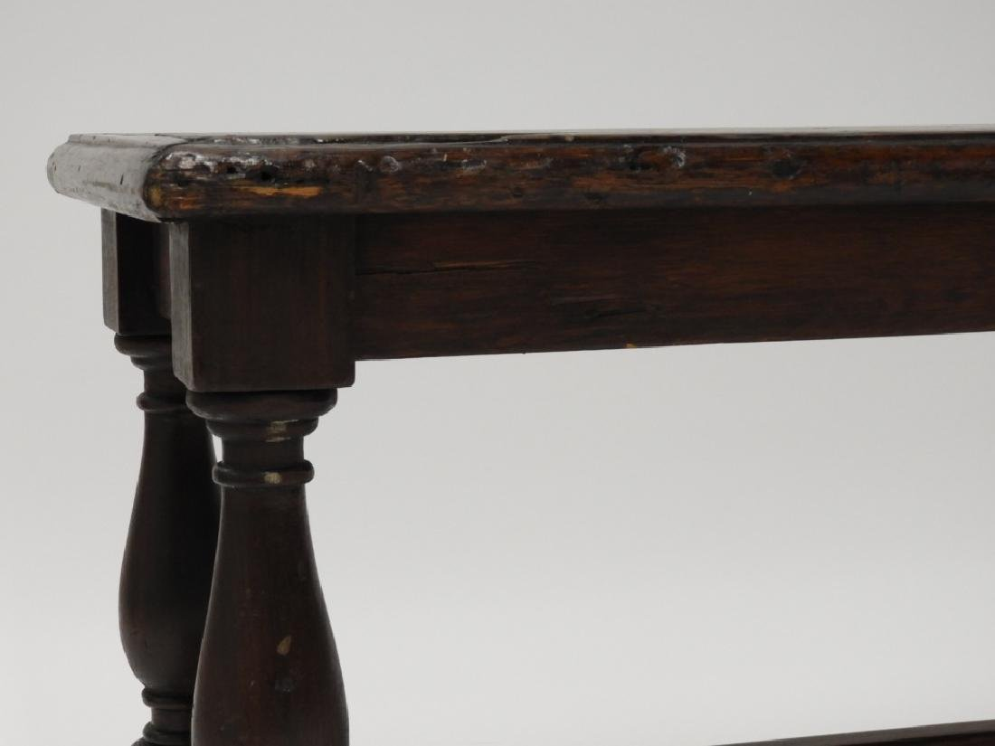 English Jacobean Style Window Table Bench - 4