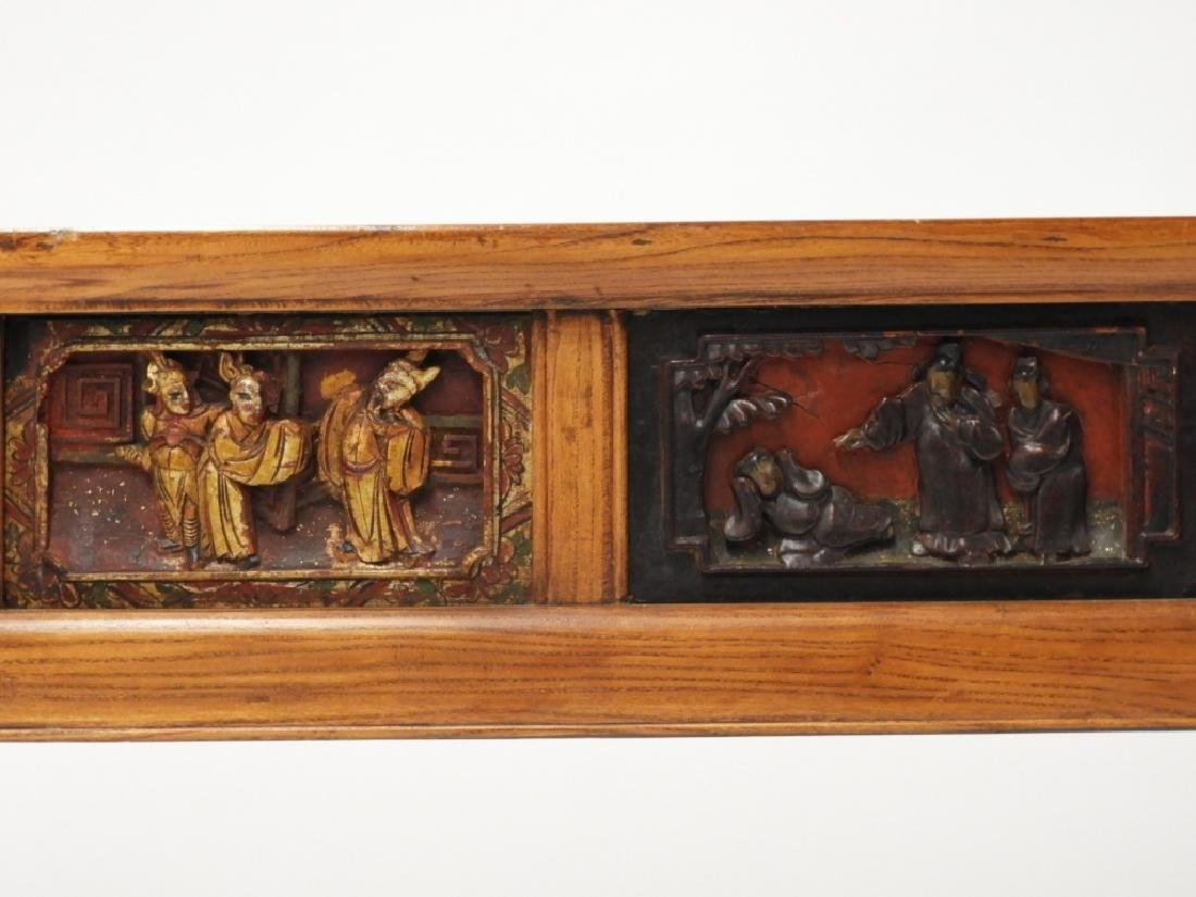 Chinese Carved Scenic Panel Hardwood Alter Table - 4