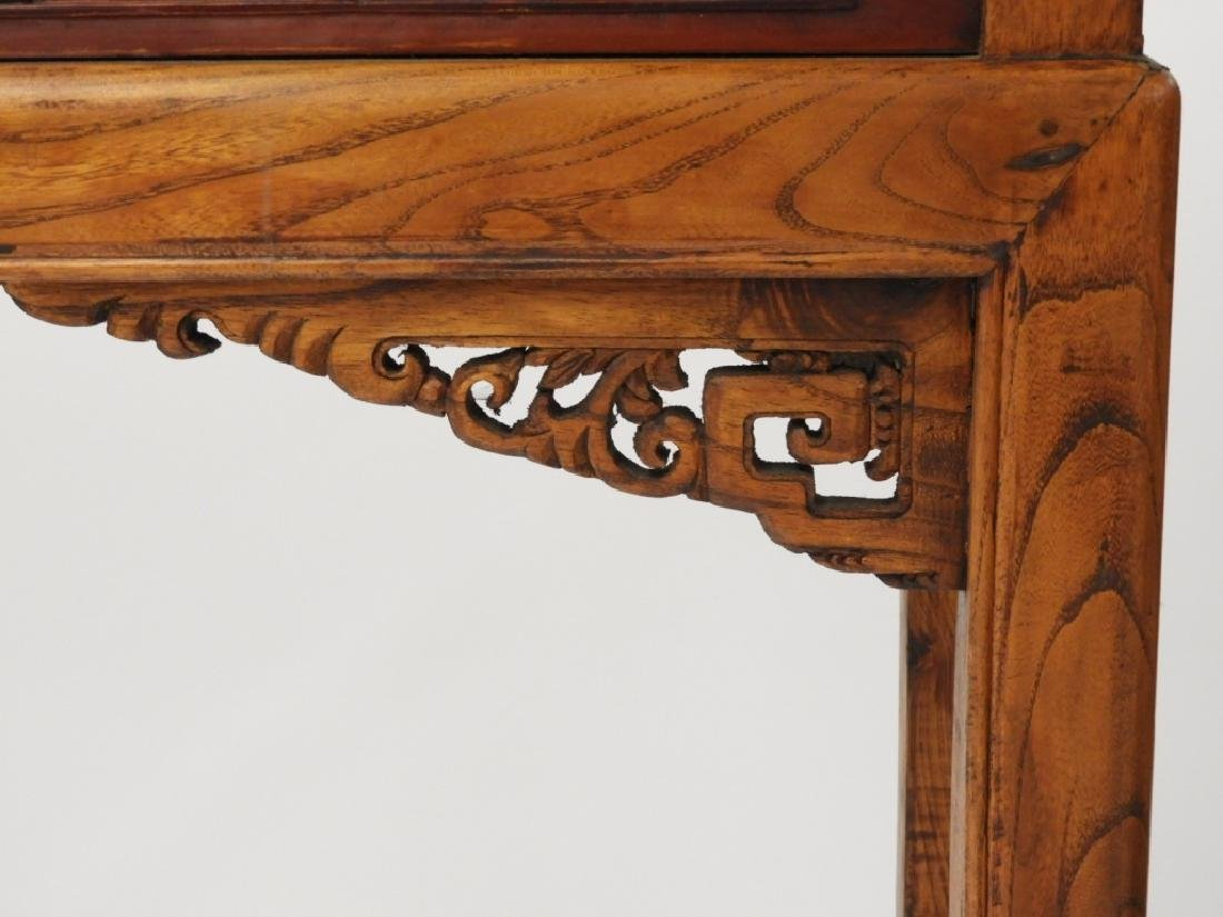 Chinese Carved Scenic Panel Hardwood Alter Table - 6