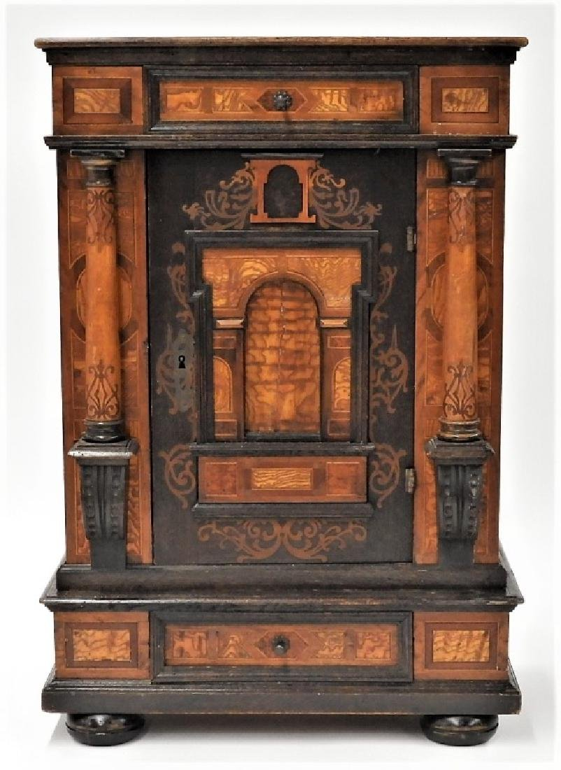 English Aesthetic Diminutive Inlaid Cabinet