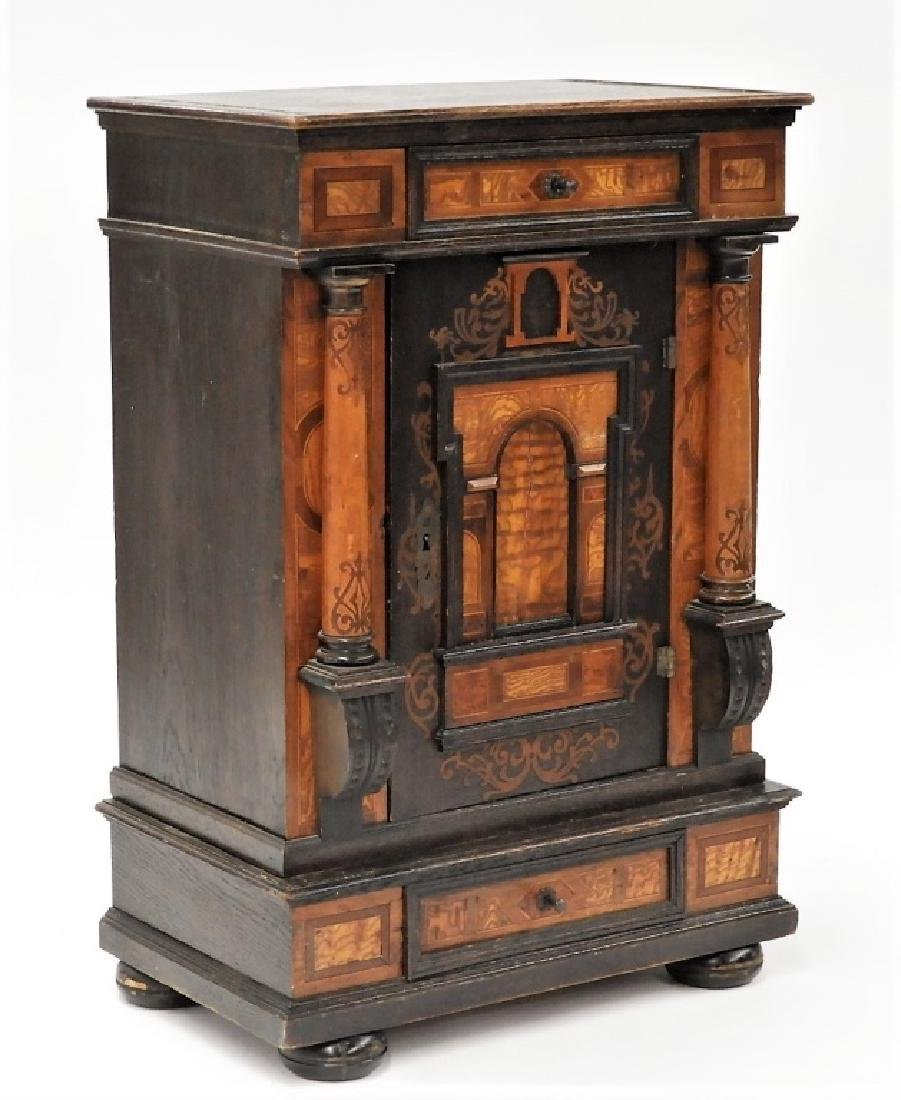 English Aesthetic Diminutive Inlaid Cabinet - 2