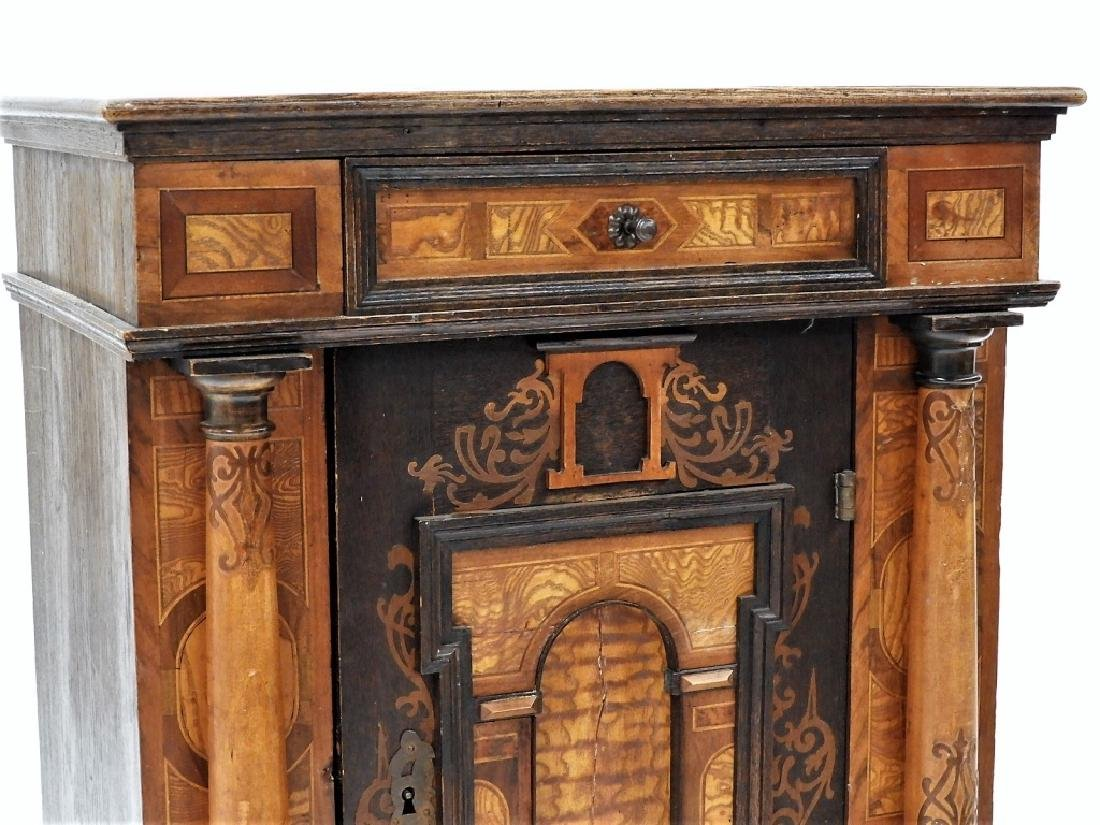 English Aesthetic Diminutive Inlaid Cabinet - 3