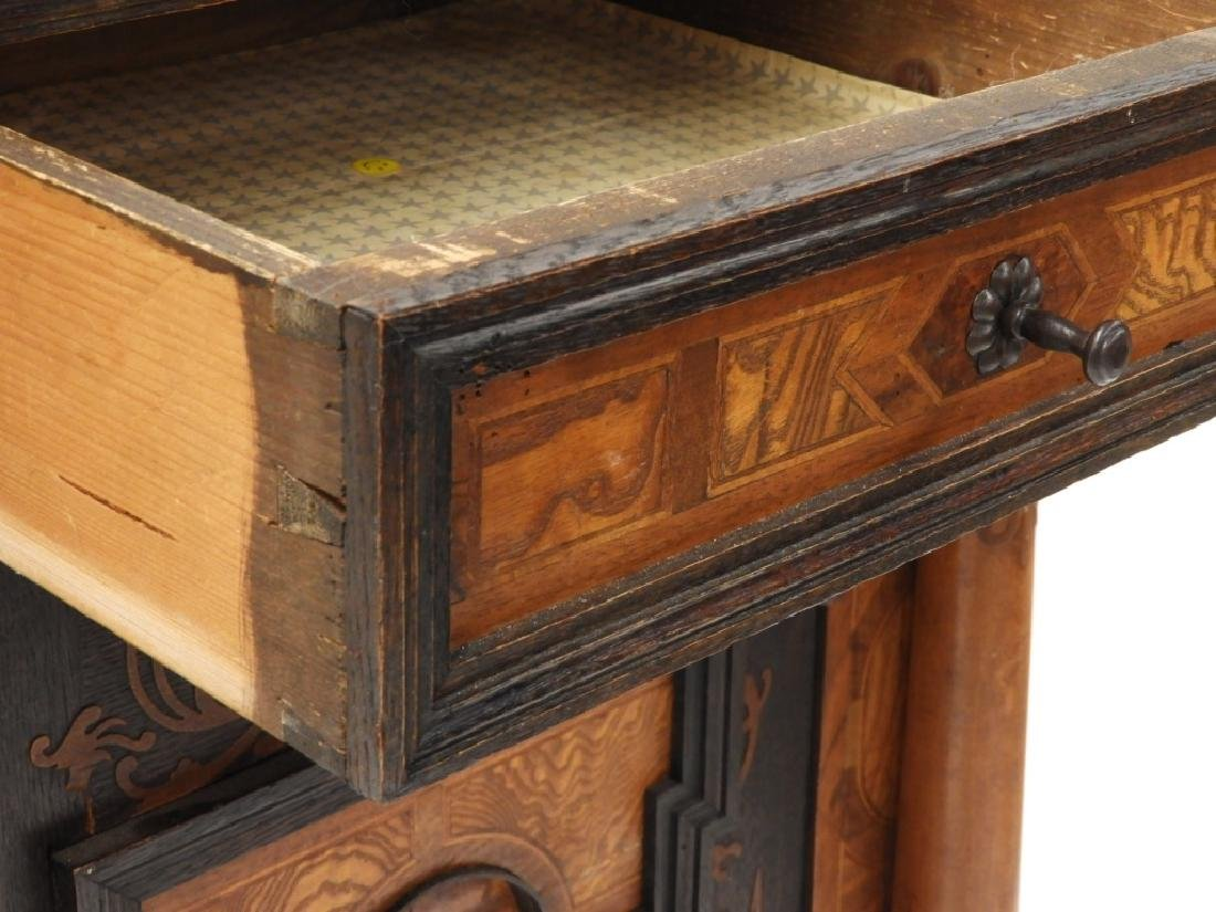 English Aesthetic Diminutive Inlaid Cabinet - 5