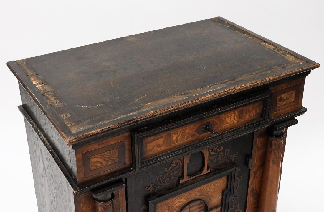 English Aesthetic Diminutive Inlaid Cabinet - 8