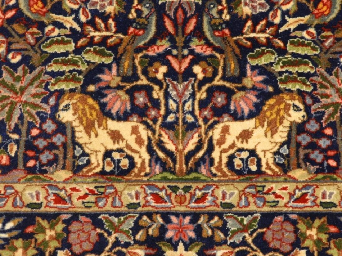Oriental Persian Kerman Pictorial Animal Carpet - 2