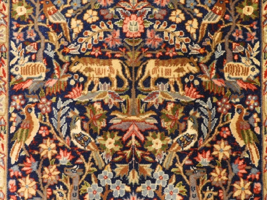 Oriental Persian Kerman Pictorial Animal Carpet - 4