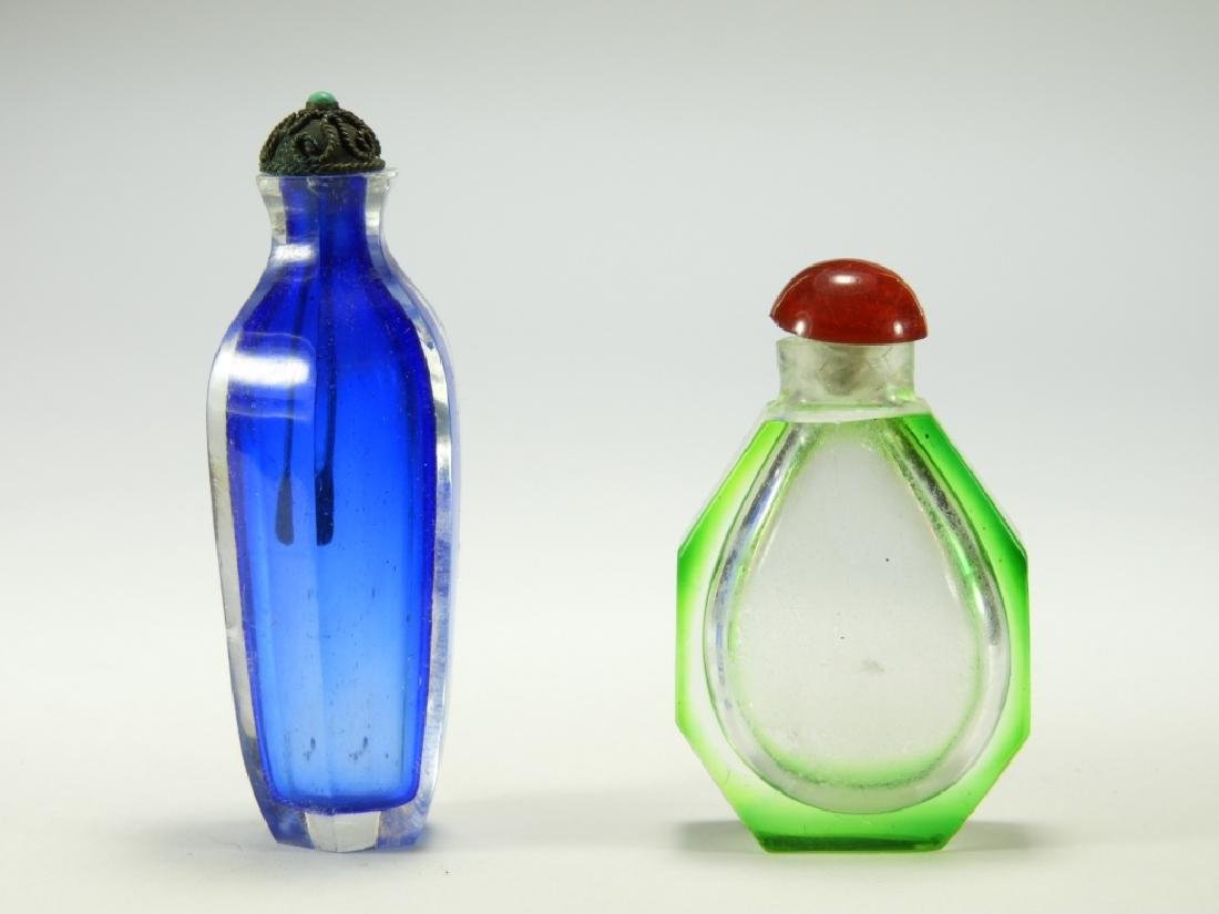 2 Chinese Cut Glass Snuff Bottles - 3