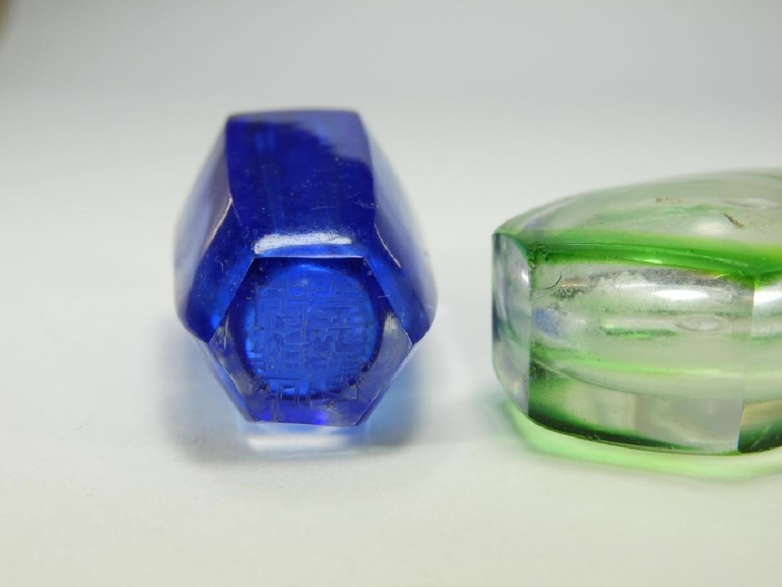 2 Chinese Cut Glass Snuff Bottles - 6