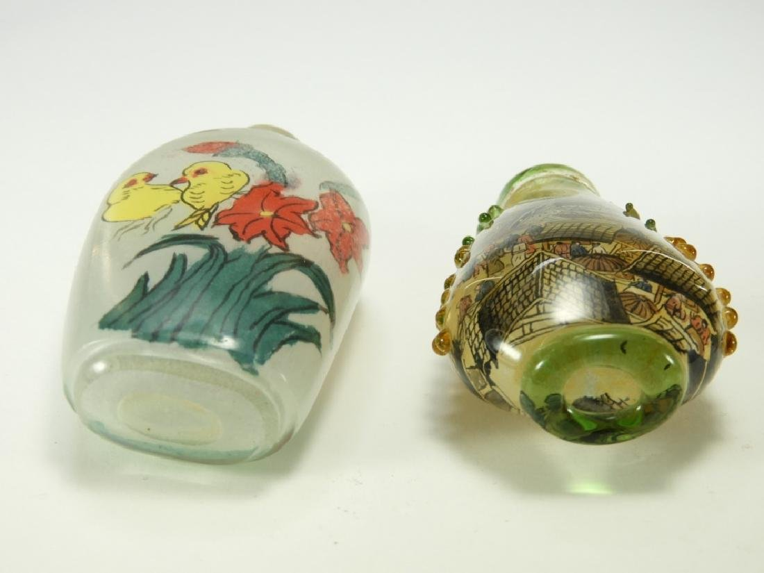 2 Chinese Reverse Painted Glass Snuff Bottles - 5