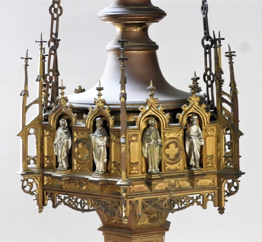 Continental Gothic Silvered Gilt Bronze Fixture - 3
