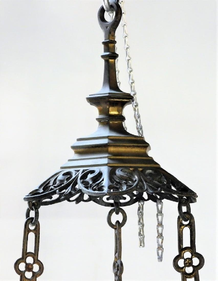 Continental Gothic Silvered Gilt Bronze Fixture - 4