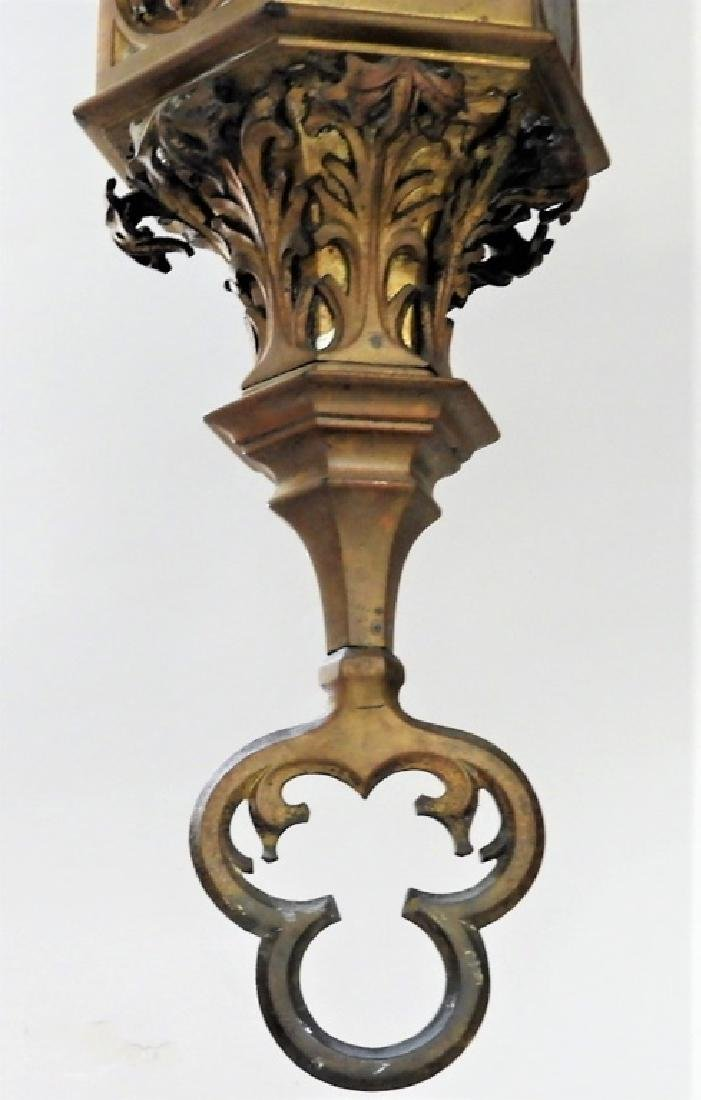 Continental Gothic Silvered Gilt Bronze Fixture - 7