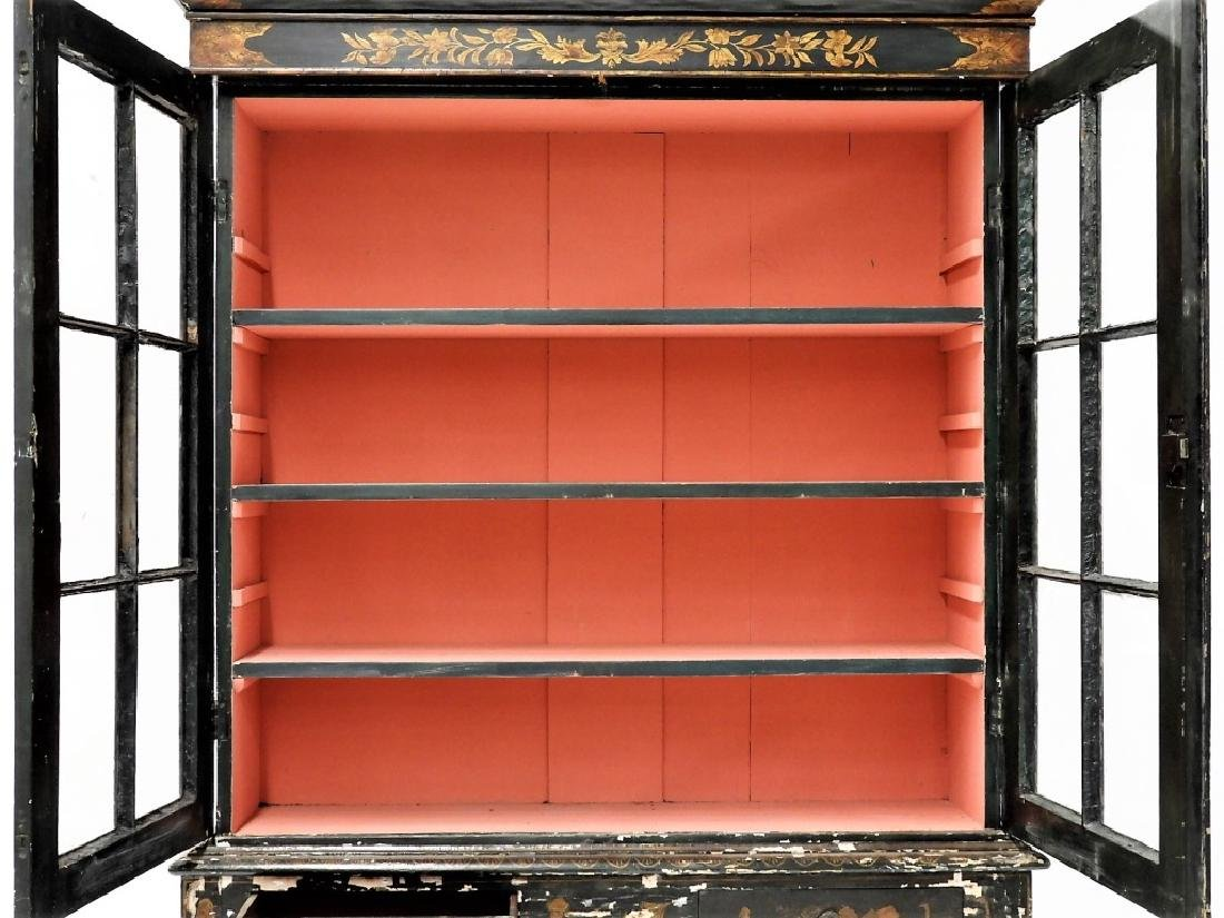 French Chinoiserie Queen Anne Style China Cabinet - 8
