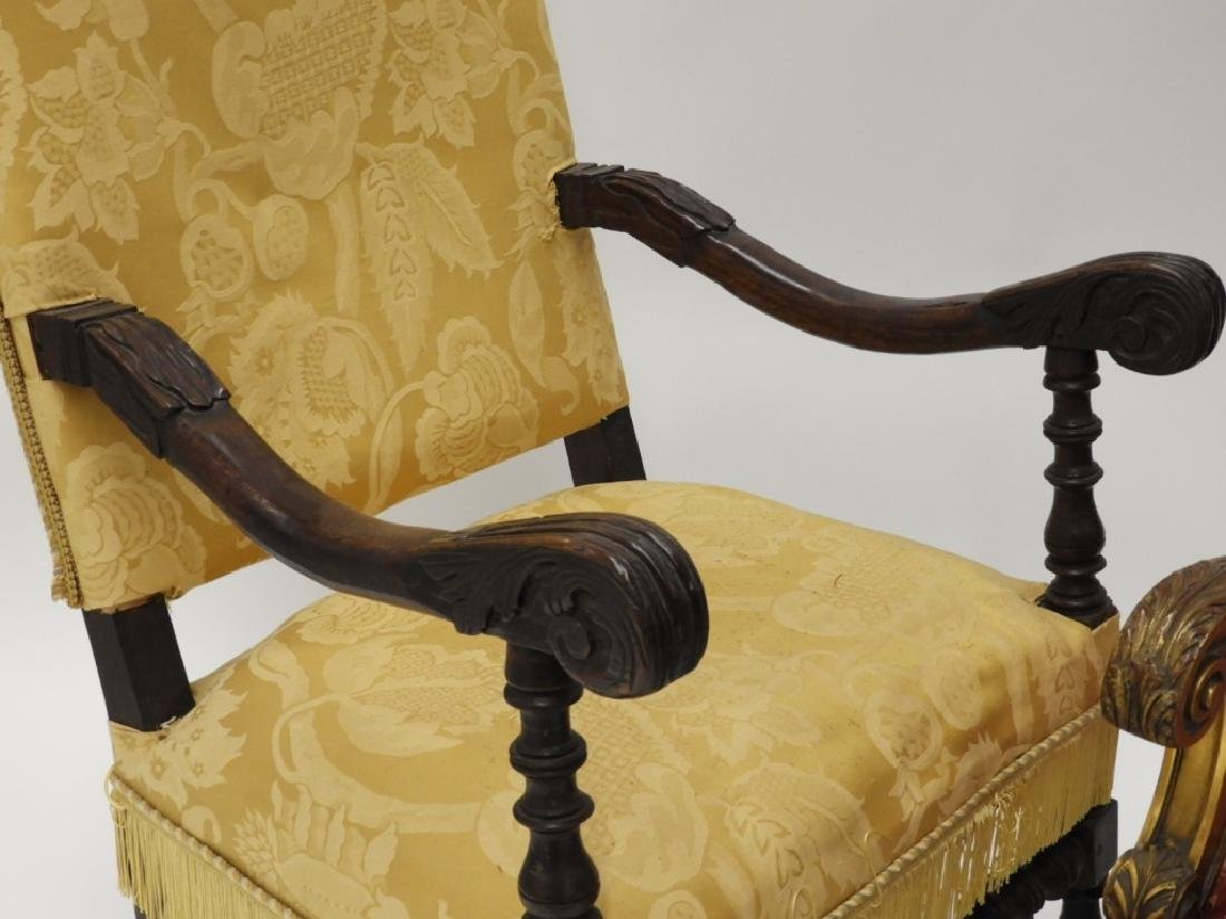 2 Continental European Carved Lolling Chairs - 2