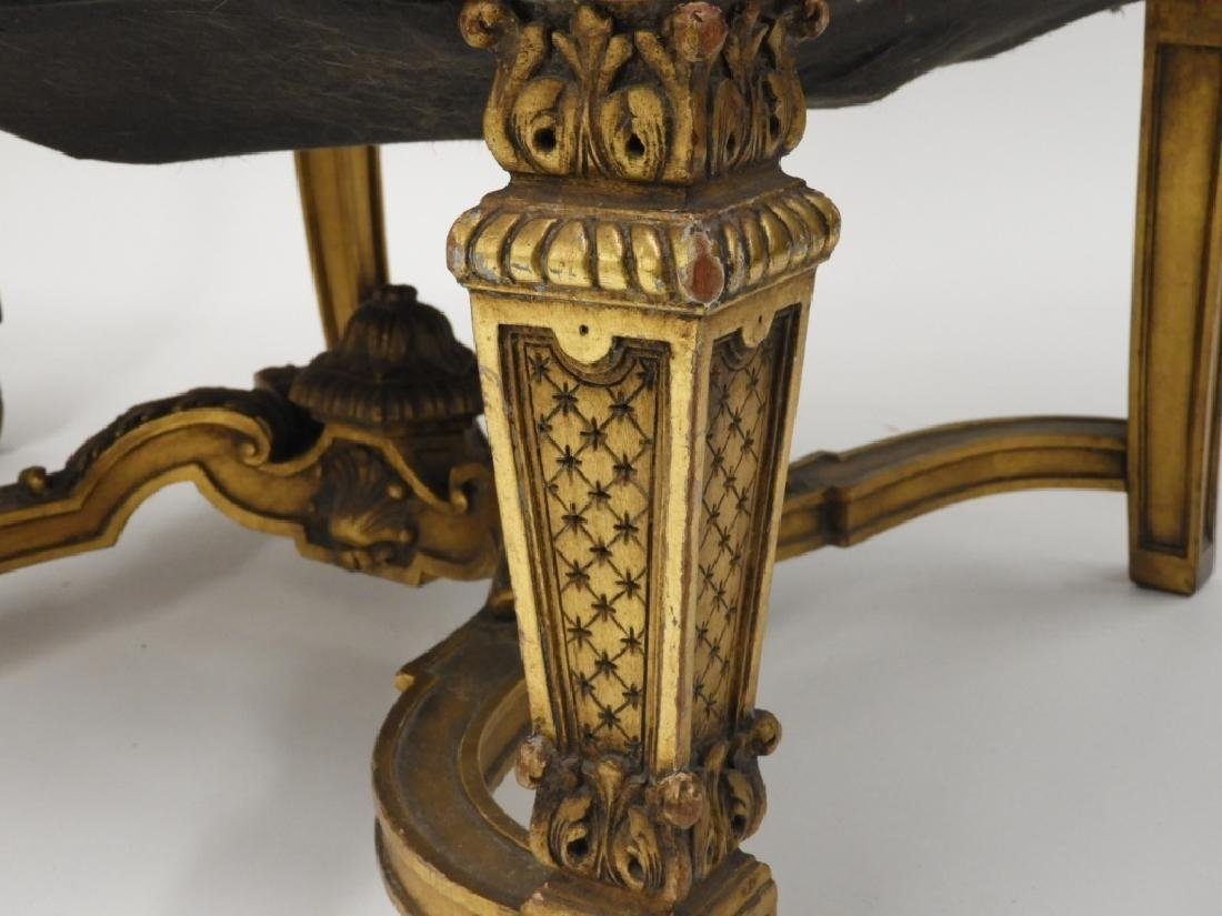 2 Continental European Carved Lolling Chairs - 6