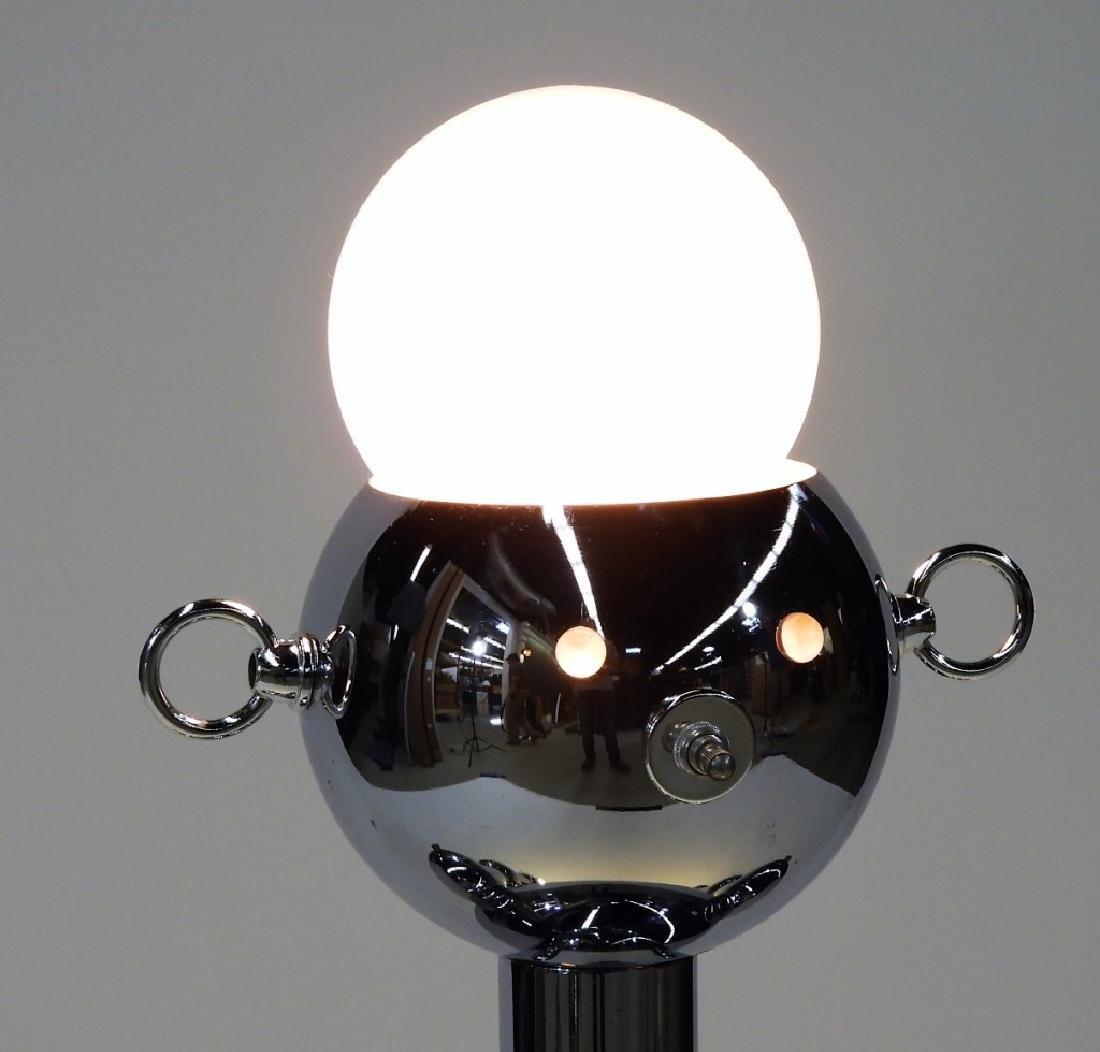 Italian Torino Lamp Co. Chrome Plated Robot Lamp - 2