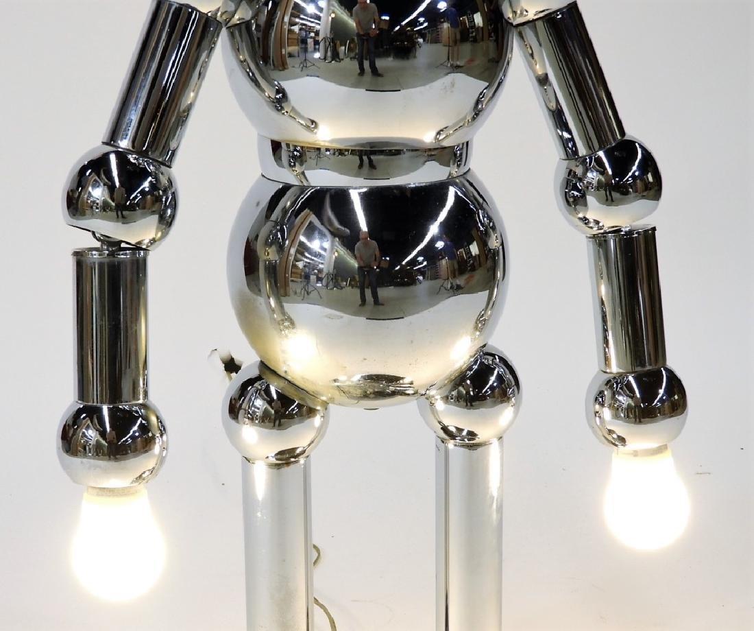 Italian Torino Lamp Co. Chrome Plated Robot Lamp - 3
