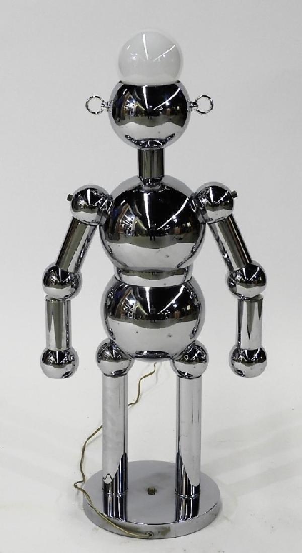 Italian Torino Lamp Co. Chrome Plated Robot Lamp - 5