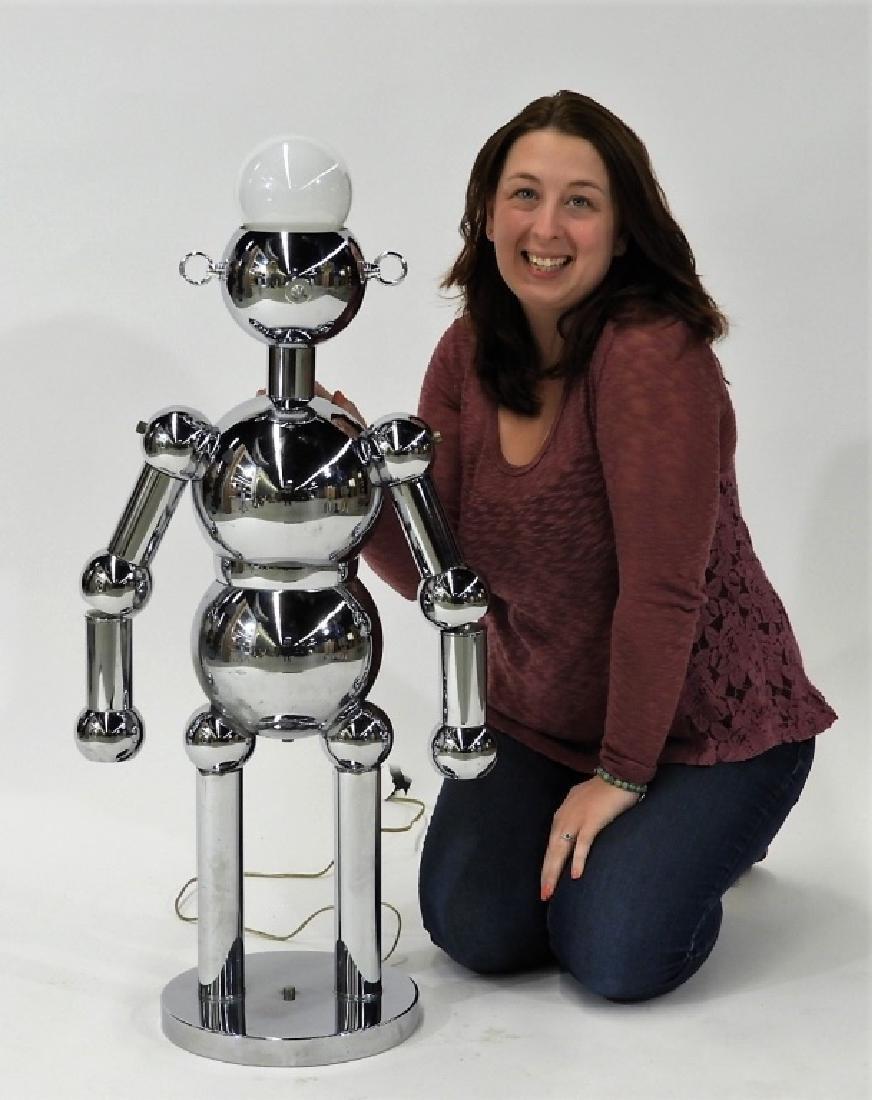 Italian Torino Lamp Co. Chrome Plated Robot Lamp - 6