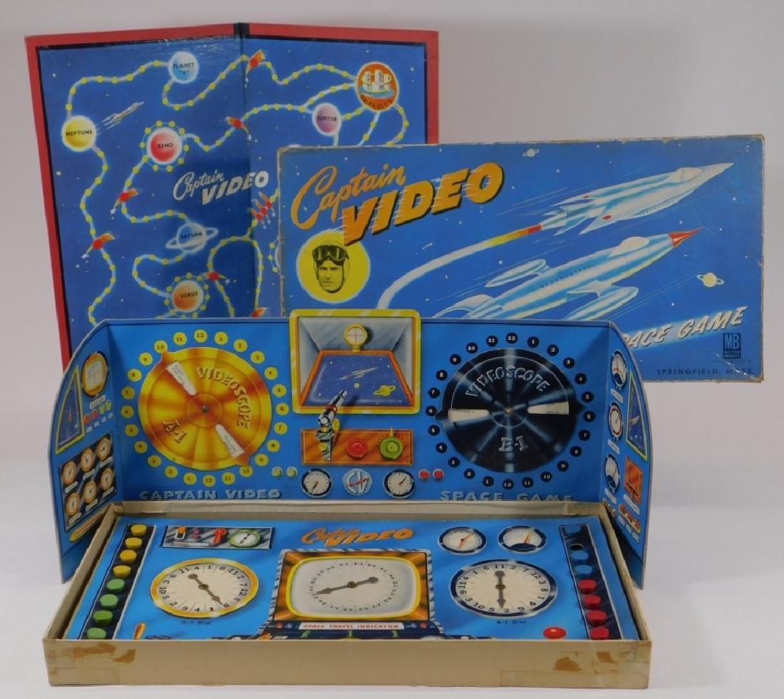 C.1950 Milton Bradley Captain Video Board Game - 2