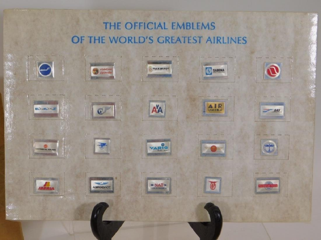 Franklin Mint Sterling Silver Airline Logo Ingots - 2