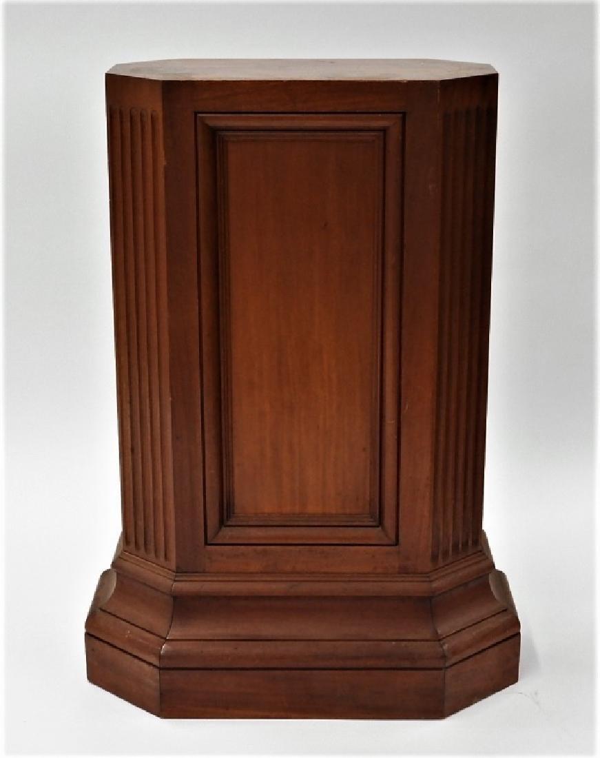 FINE Mahogany Paneled & Fluted Pedestal Fern Stand