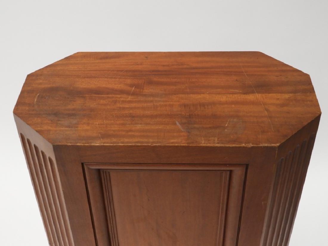 FINE Mahogany Paneled & Fluted Pedestal Fern Stand - 2