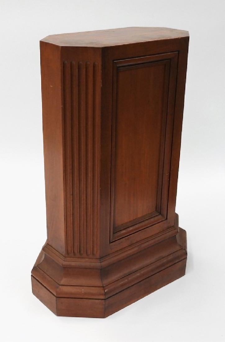 FINE Mahogany Paneled & Fluted Pedestal Fern Stand - 3